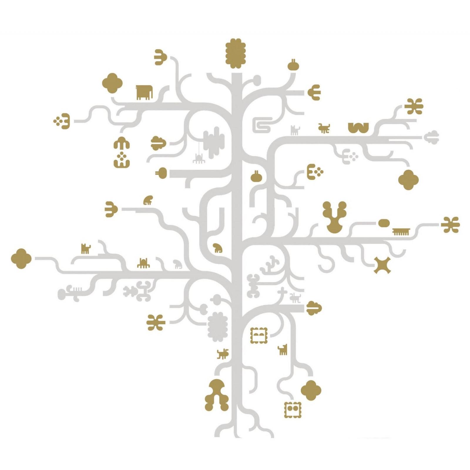 Aυτοκόλλητο Tοίχου Tree Gold -  Domestic