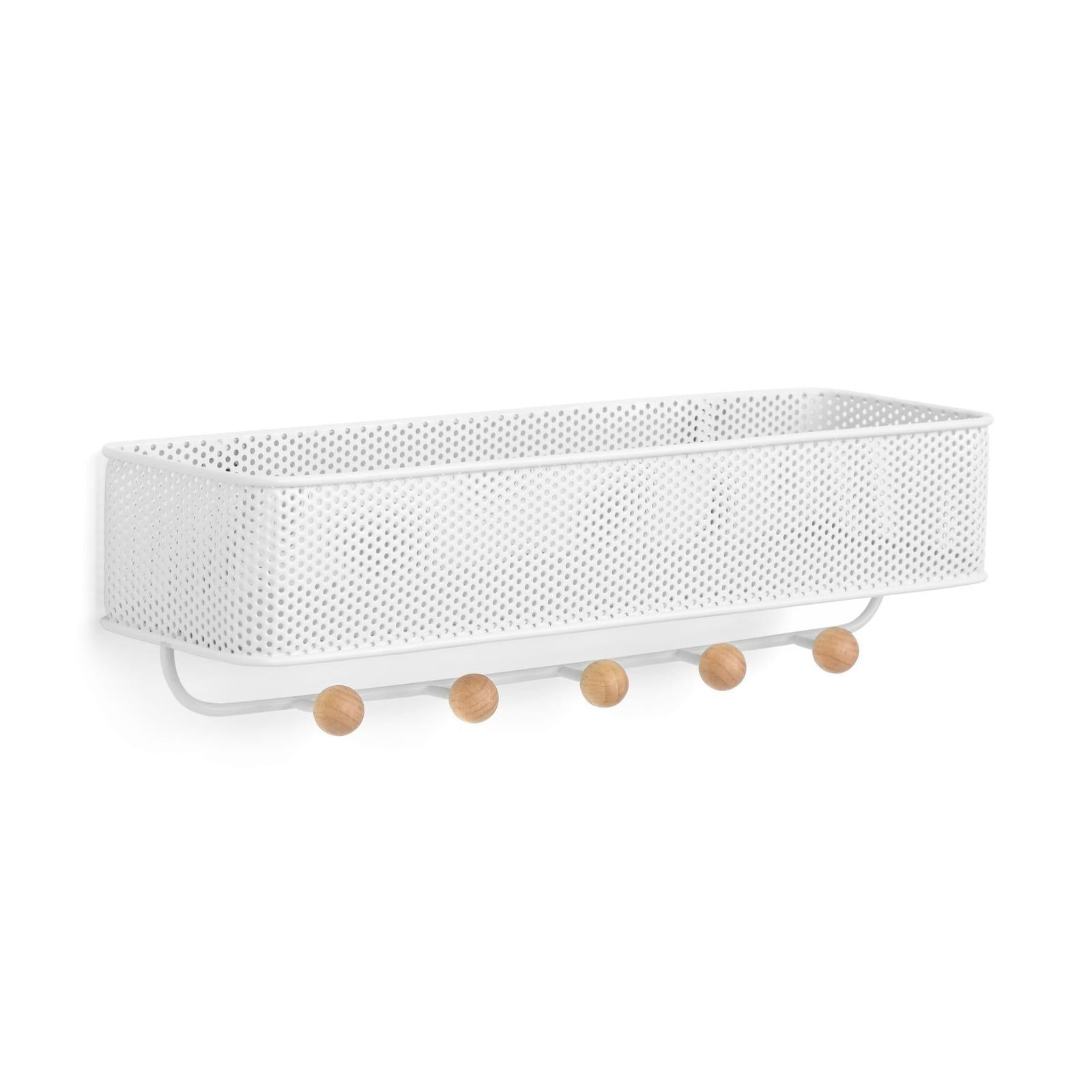 Ράφι Τοίχου με Κλειδοθήκη Estique (Λευκό) - Umbra