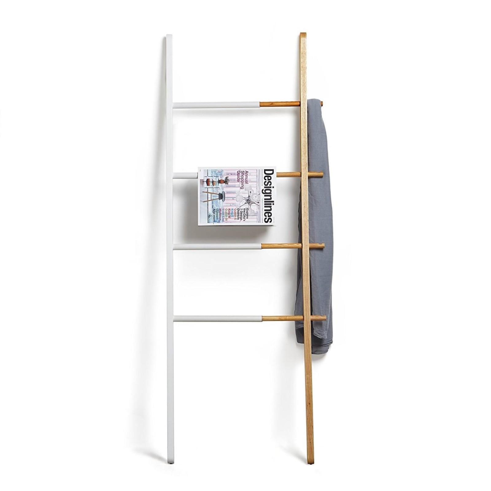 Σκάλα - Κρεμάστρα Hub (Λευκό / Ξύλο Φράξου) - Umbra