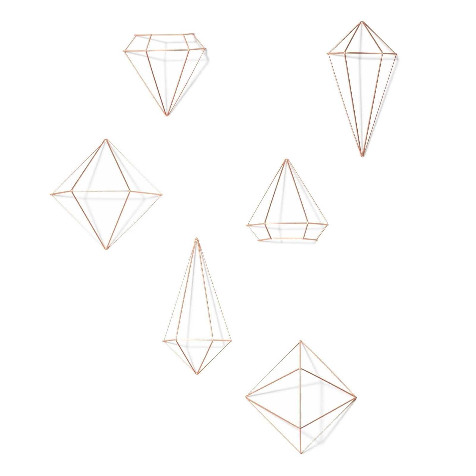 Μεταλλικά Διακοσμητικά Τοίχου Prisma Σετ των 6 (Χαλκός) - Umbra