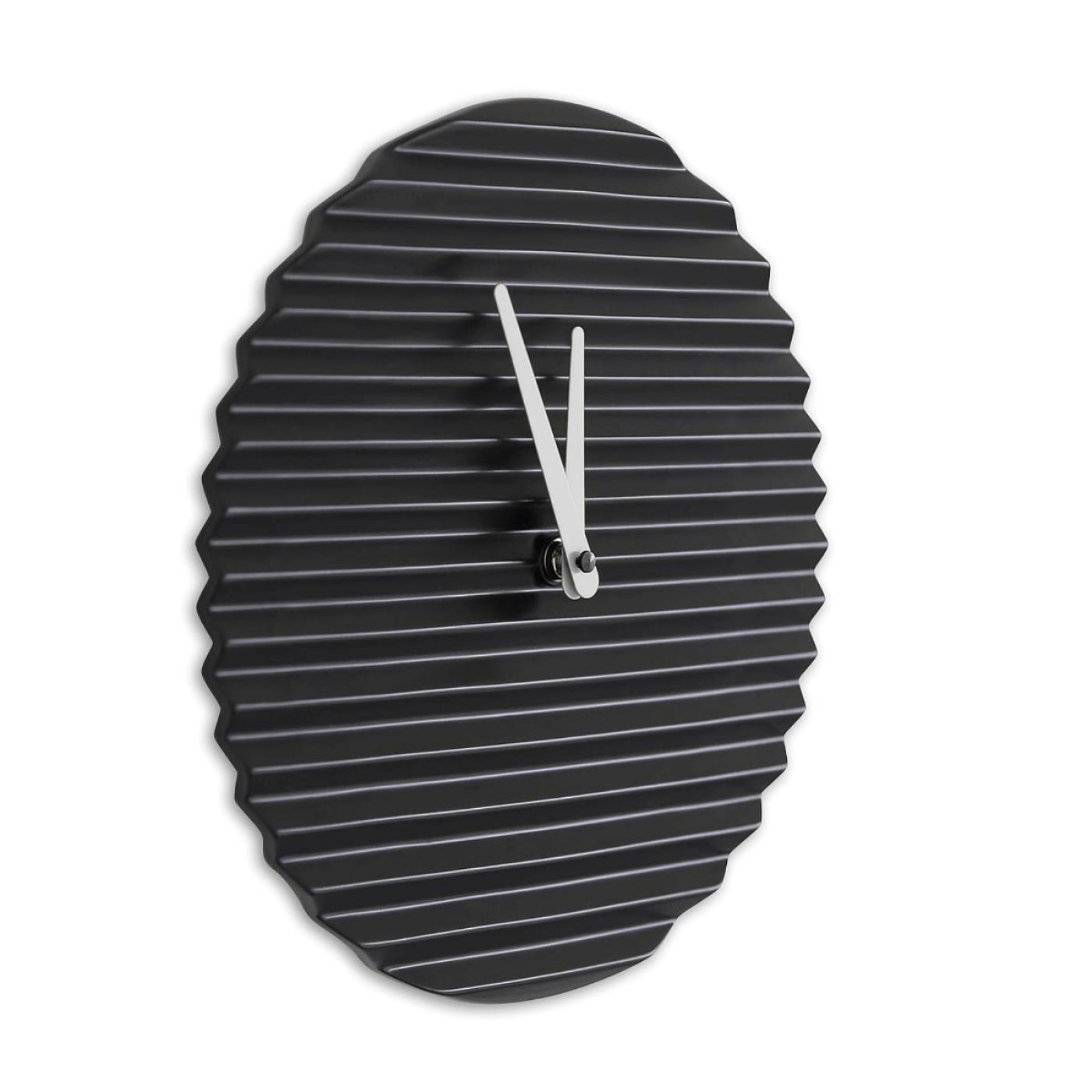 Ρολόι Τοίχου Wave (Μαύρο / Λευκό) – Sabrina Fossi Design