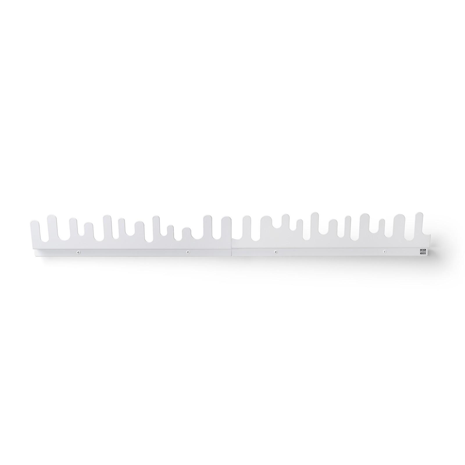 Κρεμάστρα Τοίχου Wave Λευκή (Σετ των 2) - Design House Stockholm