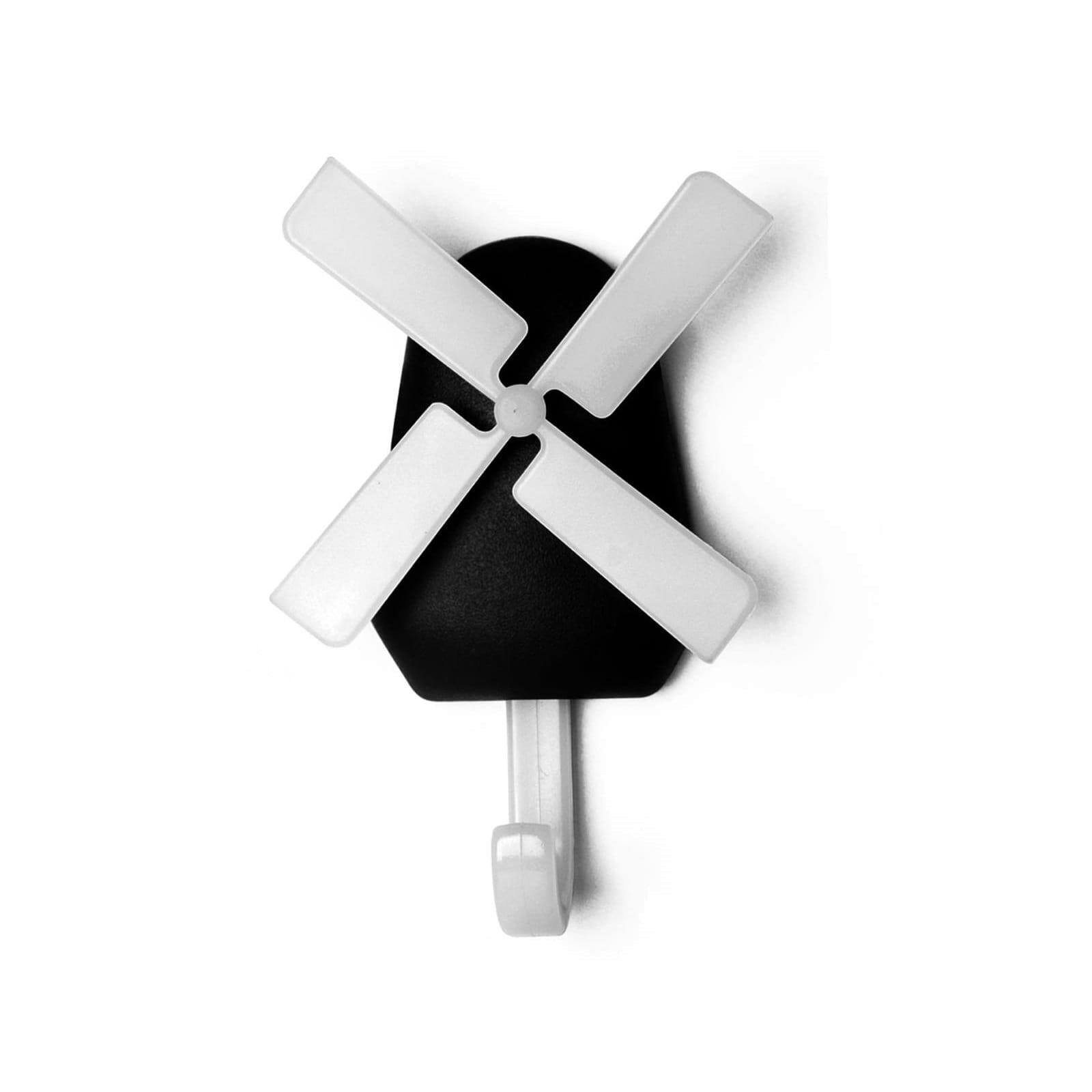Κρεμάστρα Τοίχου Windmill (Μαύρο) - Qualy