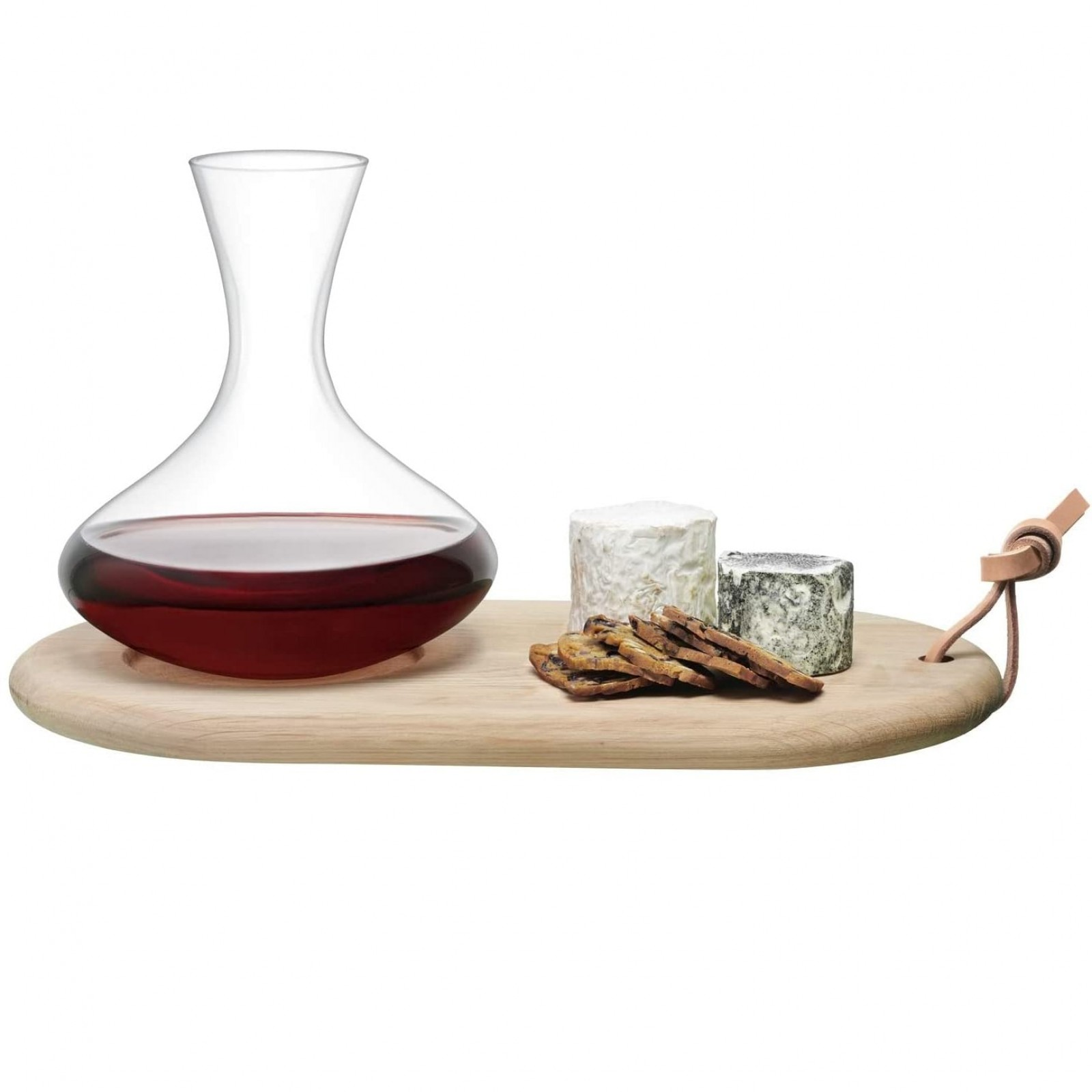 Σετ Καράφα Κρασιού 1.4L με Ξύλινη Βάση Σερβιρίσματος - LSA