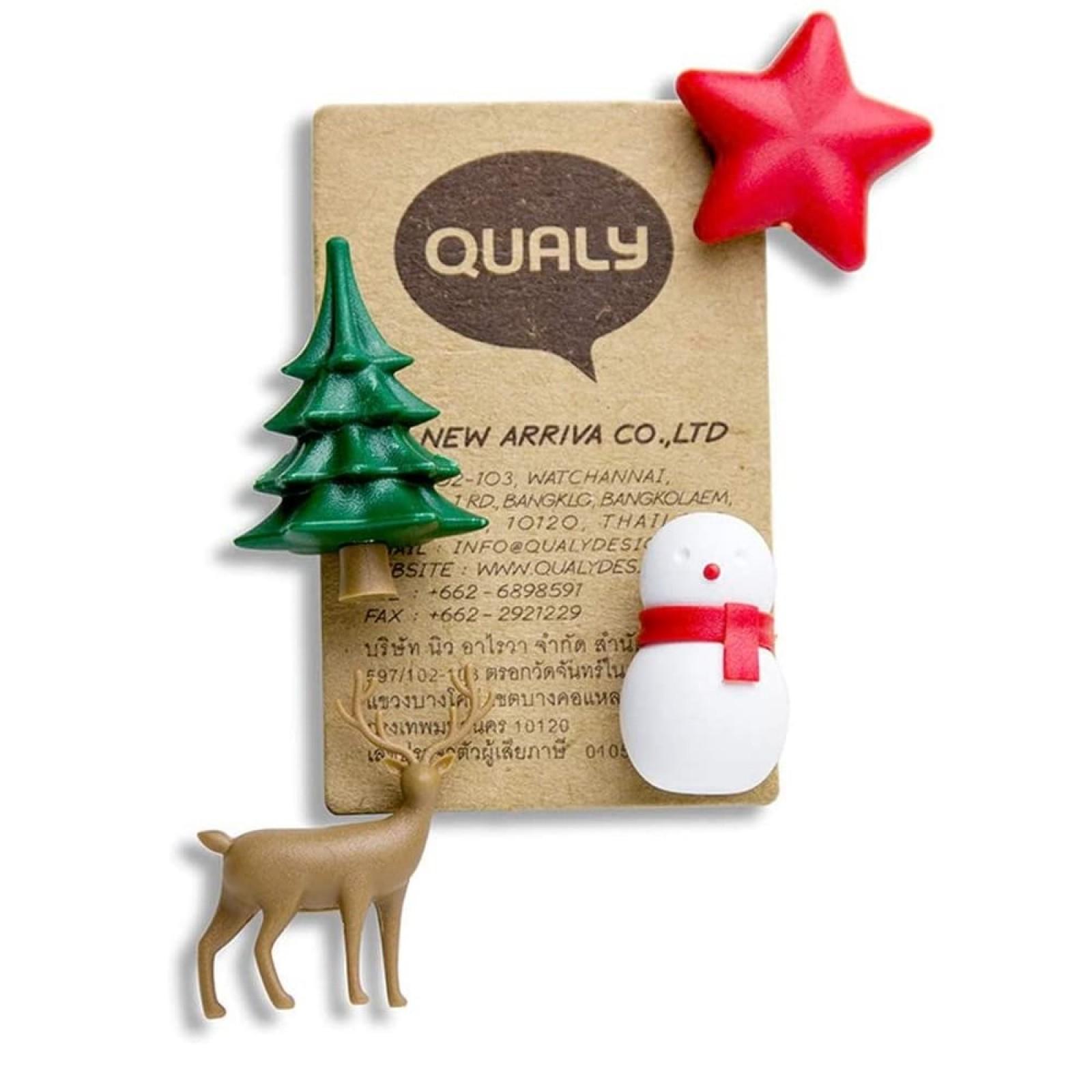Χριστουγεννιάτικα Μαγνητάκια Winter Wonder (Σετ των 4) - Qualy