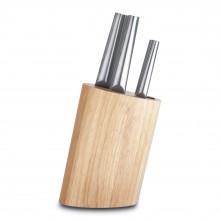 Ξύλινη Βάση Μαχαιριών με 5 Μαχαίρια Essentials - BergHOFF