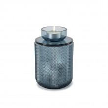 Διακοσμητικό Δοχείο / Βάζο Αποθήκευσης Allira Large (Μπλε Γυαλί) - Umbra