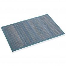 Χαλάκι Μπάνιου από Μπαμπού 50 x 80 εκ. (Μπλε) - Versa
