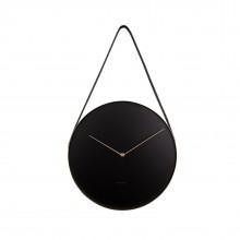Ρολόι Τοίχου Belt (Μαύρο) - Karlsson