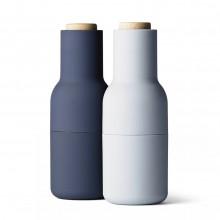 Σετ Κεραμικών Μύλων Αλατιού & Πιπεριού Bottle Grinder (Μπλε / Σιελ / Ξύλο) - Menu