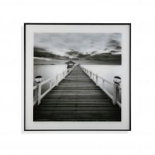 Διακοσμητικό Κάδρο Bridge 50 x 50 εκ. (Λευκό /  Μαύρο) - Versa