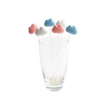 Αναδευτήρες Κοκτέιλ Cloud Σετ των 6 (Λευκό, Μπλε, Ροζ) - Qualy
