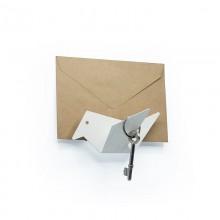 Κλειδοθήκη Τοίχου / Κρεμάστρα Early Bird (Λευκή) - Moreover Design