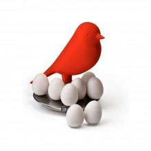 Σετ 8 Μαγνητάκια με Βάση Egg Sparrow (Κόκκινο) - Qualy