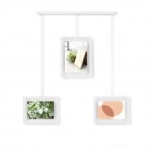 Πολυκορνίζα Τοίχου Exhibit Σετ των 3 (Λευκό) - Umbra