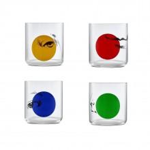 Χαμηλά Ποτήρια Finesse Rock & Pop 390 ml (Σετ των 4) - Nude Glass