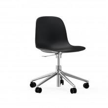 Κάθισμα Γραφείου με Ρόδες Form (Μαύρο / Αλουμίνιο) - Normann Copenhagen