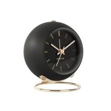Επιτραπέζιο Ρολόι Ξυπνητήρι Globe (Μαύρο) - Karlsson