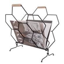 Μεταλλική Θήκη Περιοδικών Επιδαπέδια Honeycomb (Μαύρο) - Present Time