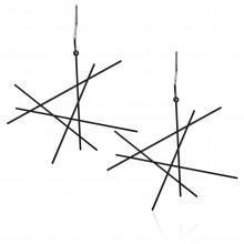 Σκουλαρίκια Line M (Μαύρο) - Moorigin