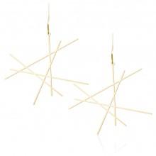 Σκουλαρίκια Line M (Χρυσό) - Moorigin