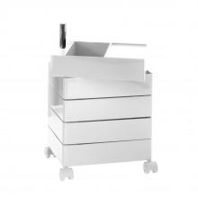 Τροχήλατη Συρταριέρα 360° Container με 5 Συρτάρια (Λευκό) - Magis