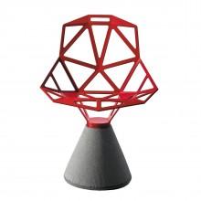 Καρέκλα Chair One με Βάση από Τσιμέντο (Κόκκινο) - Magis