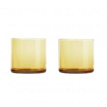Χαμηλά Ποτήρια MERA 200 ml Σετ των 2 (Χρυσό Γυαλί) - Blomus