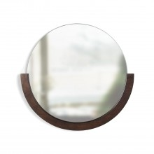 Στρόγγυλος Καθρέφτης Τοίχου Mira (Καρυδιά) - Umbra