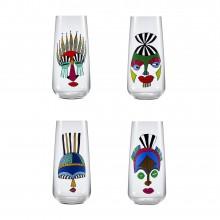 Ψηλά Ποτήρια Mirage Rock & Pop 480 ml (Σετ των 4) - Nude Glass