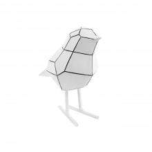 Διακοσμητικό Γλυπτό Origami Bird Small (Λευκό / Μαύρο) - Present Time