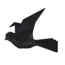 Κρεμάστρα Τοίχου Origami Bird Large (Μαύρο) - Present Time