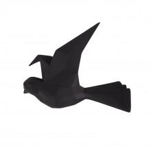 Κρεμάστρα Τοίχου Origami Bird Small (Μαύρο) - Present Time