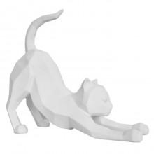 Διακοσμητικό Γλυπτό Origami Cat Stretching (Λευκό) - Present Time