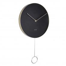 Ρολόι Τοίχου με Εκκρεμές Pendulum (Μαύρο) - Karlsson