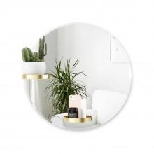 Καθρέφτης Τοίχου με 2 Ράφια Perch 61 εκ. (Χρυσό) - Umbra