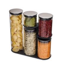 Γυάλινο Δοχείο Ξηρών Τροφίμων με Βάση Podium™ 100 (Σετ των 5) - Joseph Joseph