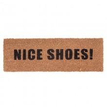 Χαλάκι Εισόδου Nice Shoes! 75 x 26 εκ. (Καφέ / Μαύρο) - Present Time