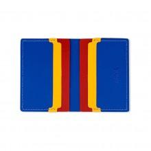 Πορτοφόλι Primary Recycled Leather (Μπλε / Κόκκινο) - MoMa