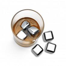 Μεταλλικά Παγάκια Rocks of Steel (Σετ των 6) - The Mixology Collection