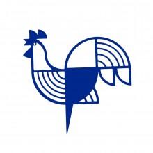 Μεταλλικό Διακοσμητικό Τοίχου Rooster (Μπλε) - A Future Perfect