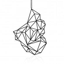 Κολιέ Μενταγιόν Stone L (Μαύρο) - Moorigin