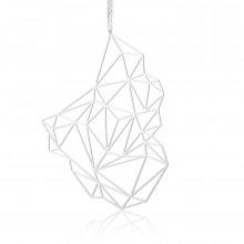 Κολιέ Μενταγιόν Stone L (Ασημί) - Moorigin