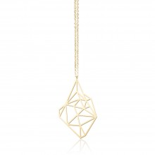 Κολιέ Μενταγιόν Stone S (Χρυσό) - Moorigin