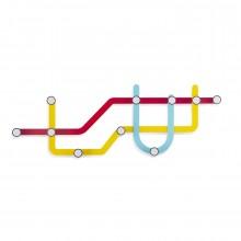 Κρεμάστρα Τοίχου Subway (Πολύχρωμη) - Umbra