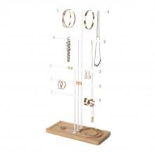 Σταντ Κοσμημάτων Trigem 5-Tier (Λευκό / Φυσικό) - Umbra