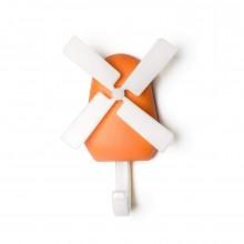 Κρεμάστρα Τοίχου Windmill (Πορτοκαλί) - Qualy