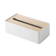 Επιτραπέζια Θήκη για Χαρτομάντηλα RIN (Λευκό / Φυσικό Ξύλο) - Yamazaki