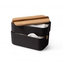 Κουτί Αποθήκευσης Μπάνιου / Γραφείου Zen (Μαύρο) - LEXON