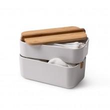 Κουτί Αποθήκευσης Μπάνιου / Γραφείου Zen (Λευκό) - LEXON